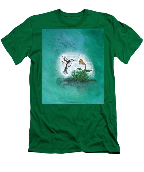 Men's T-Shirt (Athletic Fit) featuring the painting Hummingbird by Antonio Romero