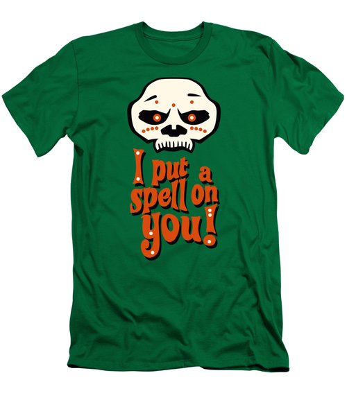 I Put A Spell On You Voodoo Retro Poster Men's T-Shirt (Slim Fit) by Monkey Crisis On Mars