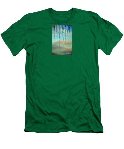 Men's T-Shirt (Slim Fit) featuring the photograph Ice Sickles - Winter In Switzerland  by Susanne Van Hulst