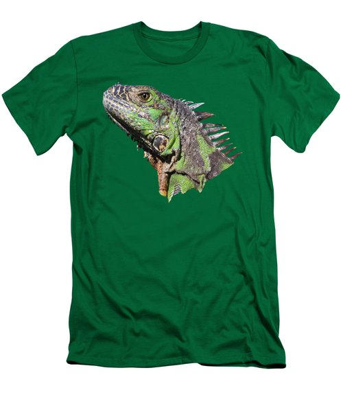 Men's T-Shirt (Slim Fit) featuring the photograph Iguana by Shane Bechler