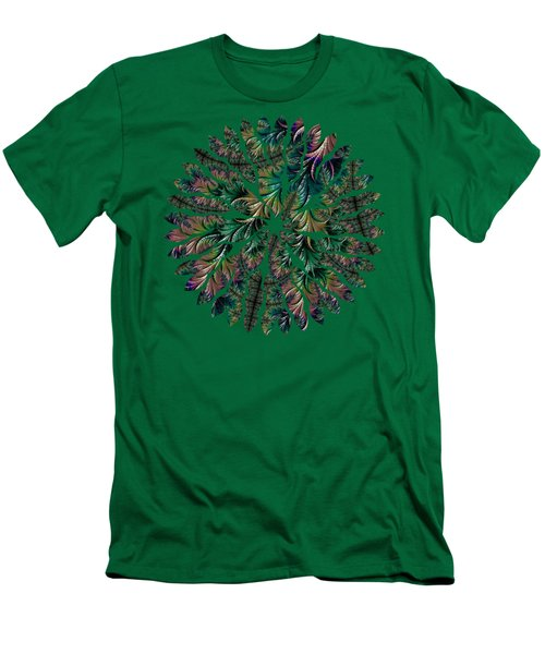 Iridescent Feathers Men's T-Shirt (Athletic Fit)
