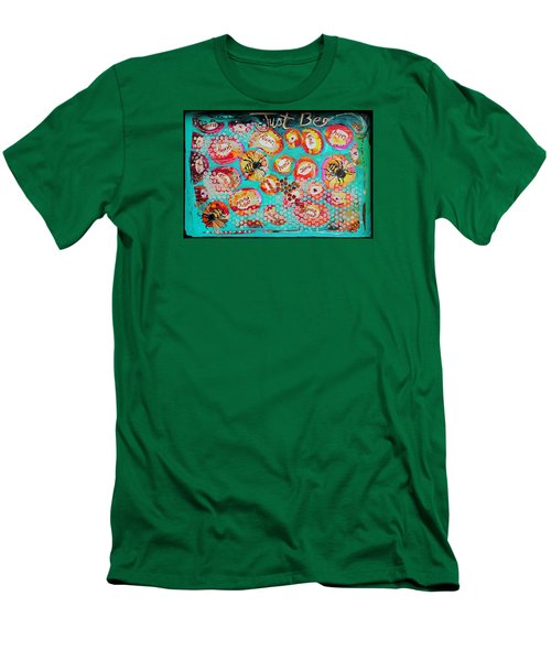 Just Bee Men's T-Shirt (Slim Fit) by DAKRI Sinclair
