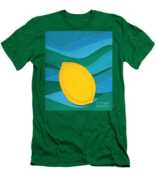Lemon Slice Men's T-Shirt (Athletic Fit)
