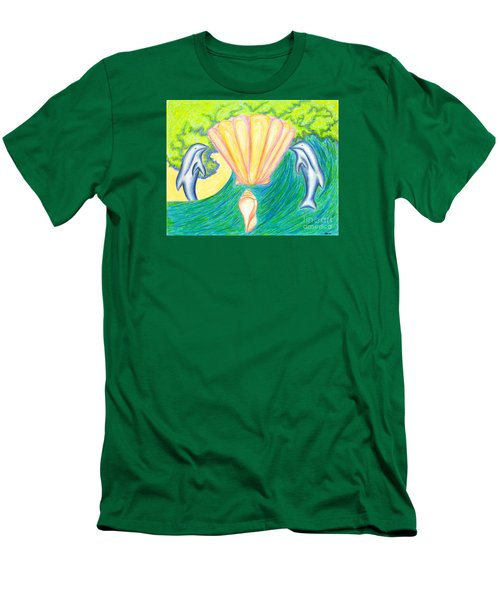 Men's T-Shirt (Slim Fit) featuring the drawing Lemuria Atlantis by Kim Sy Ok