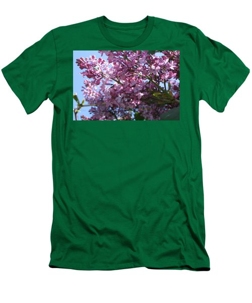 Lilacs In Bloom 2 Men's T-Shirt (Slim Fit) by Barbara Yearty