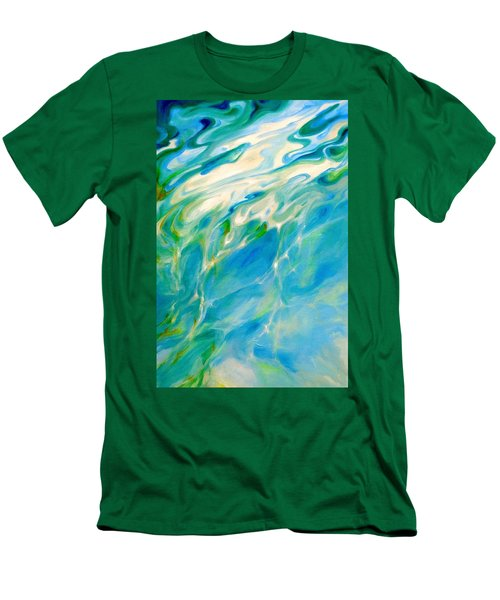 Men's T-Shirt (Slim Fit) featuring the painting Liquid Assets by Dina Dargo