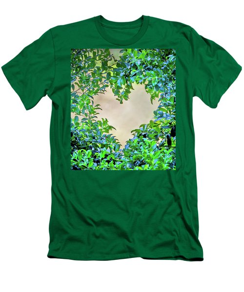 Men's T-Shirt (Slim Fit) featuring the photograph Love Leaves by Az Jackson