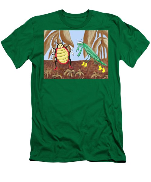 Lucy And Pablo Need A Garden Men's T-Shirt (Slim Fit) by Jan Watford