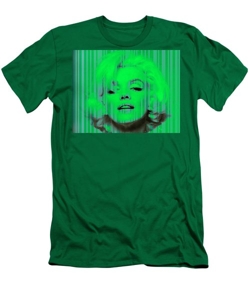 Marilyn Monroe In Green Men's T-Shirt (Athletic Fit)
