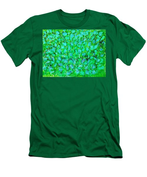 Men's T-Shirt (Slim Fit) featuring the painting Meadow Flowers by Linde Townsend