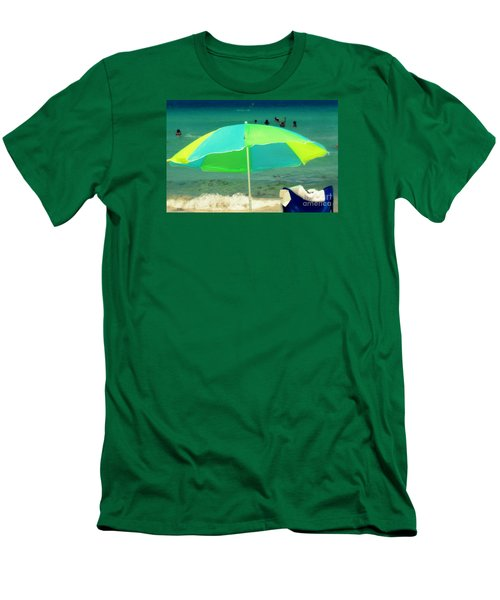 Men's T-Shirt (Slim Fit) featuring the photograph Miami Beach 3 by France Laliberte
