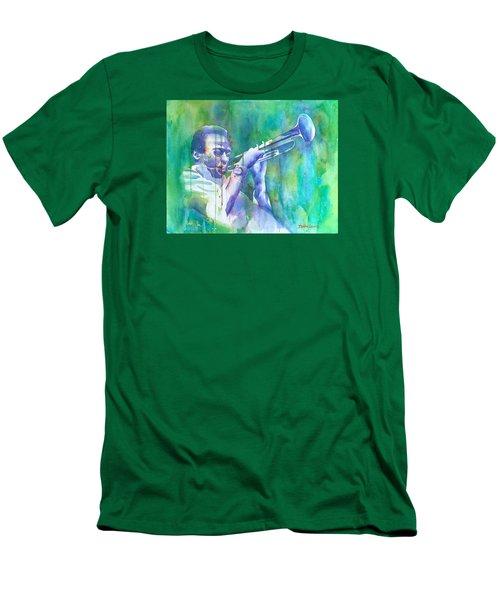 Miles Is Cool Men's T-Shirt (Slim Fit) by Debbie Lewis