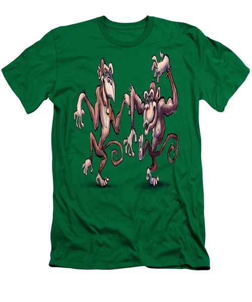 Monkey Dance Men's T-Shirt (Slim Fit) by Kevin Middleton