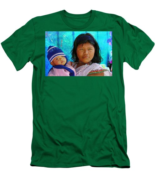 Kuna Yala - Mother And Child Men's T-Shirt (Athletic Fit)