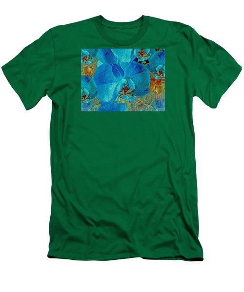 Orchid Reverie 10 Men's T-Shirt (Slim Fit) by Lynda Lehmann