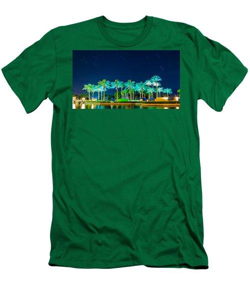 palm Trees Men's T-Shirt (Slim Fit) by Hyuntae Kim