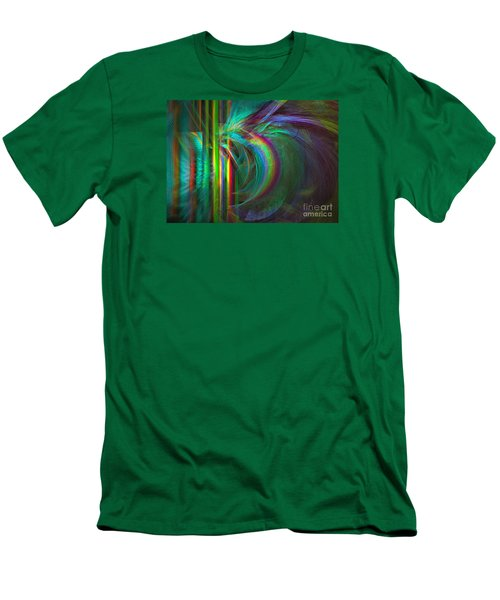 Penetrated By Life - Abstract Art Men's T-Shirt (Slim Fit) by Sipo Liimatainen