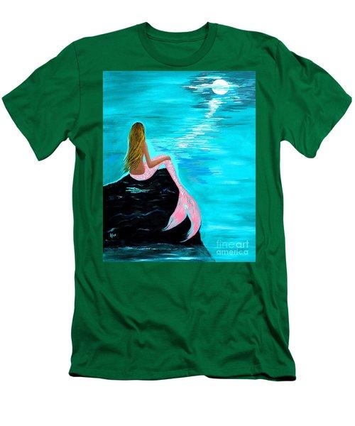 Pink Tail Men's T-Shirt (Slim Fit) by Leslie Allen