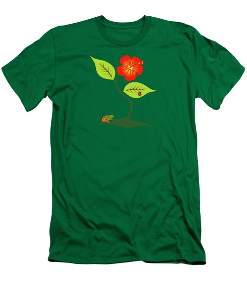Plant And Flower Men's T-Shirt (Slim Fit)