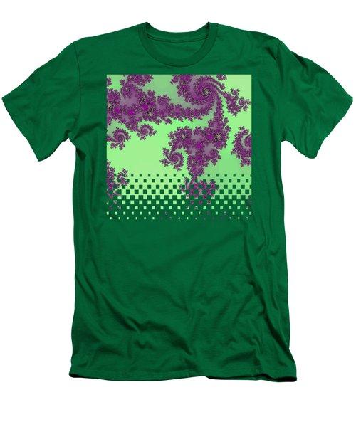 Purple Lace Men's T-Shirt (Athletic Fit)
