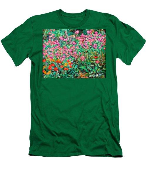Radford Flower Garden Men's T-Shirt (Slim Fit) by Kendall Kessler
