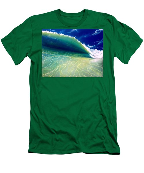 Men's T-Shirt (Slim Fit) featuring the painting Reflections by Dawn Harrell