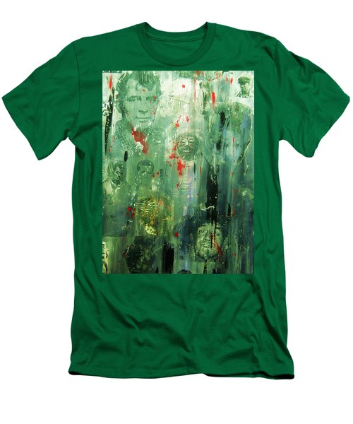 Men's T-Shirt (Slim Fit) featuring the painting Remembering Kerouac by Roberto Prusso