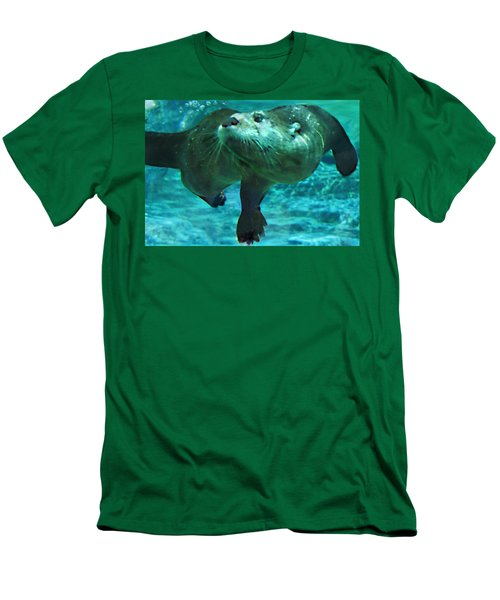 River Otter Men's T-Shirt (Slim Fit)