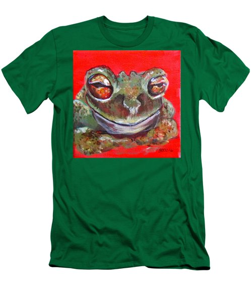 Satisfied Froggy  Men's T-Shirt (Slim Fit) by Barbara O'Toole