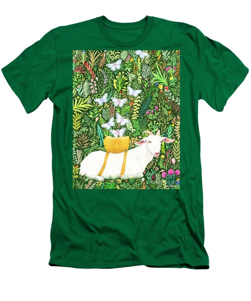 Men's T-Shirt (Slim Fit) featuring the painting Scapegoat Healing by Lise Winne