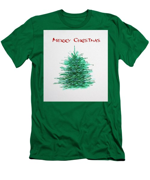 Men's T-Shirt (Slim Fit) featuring the painting Simple Christmas  by Marna Edwards Flavell