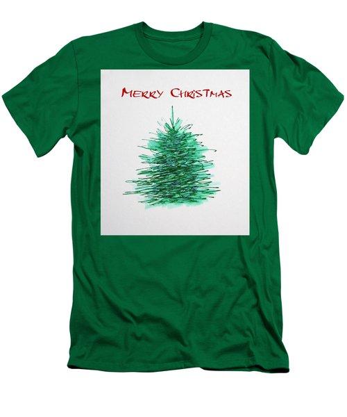 Simple Christmas  Men's T-Shirt (Athletic Fit)