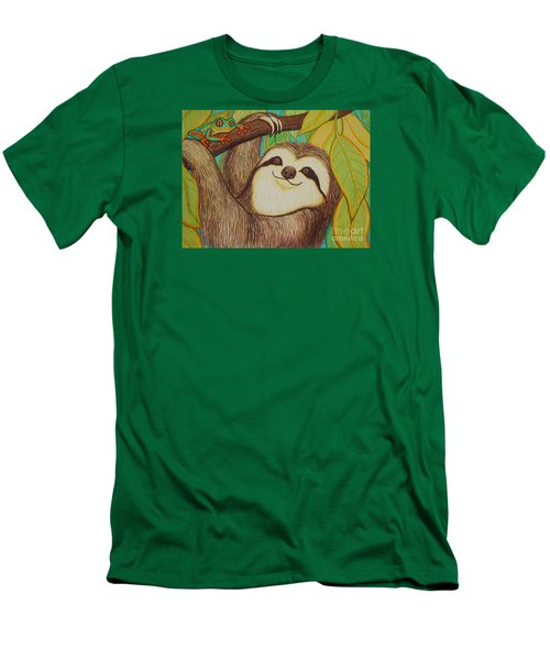 Sloth And Frog Men's T-Shirt (Athletic Fit)