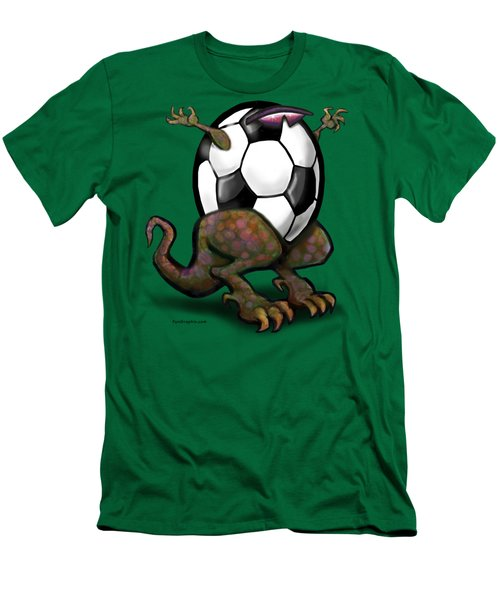 Soccer Zilla Men's T-Shirt (Slim Fit) by Kevin Middleton