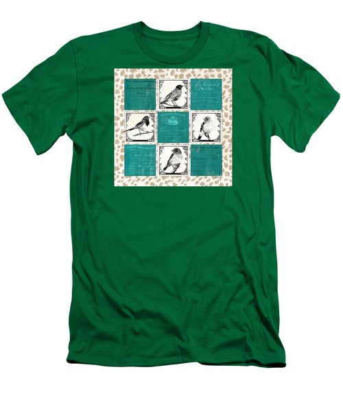 Songbird Cheetah Patch Men's T-Shirt (Athletic Fit)