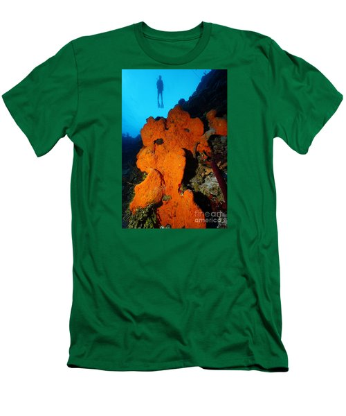Men's T-Shirt (Slim Fit) featuring the photograph Sponge Diver by Aaron Whittemore