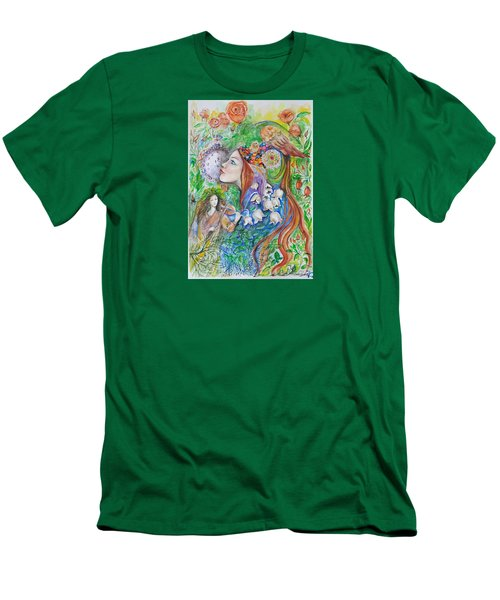 Spring Song Men's T-Shirt (Slim Fit) by Rita Fetisov