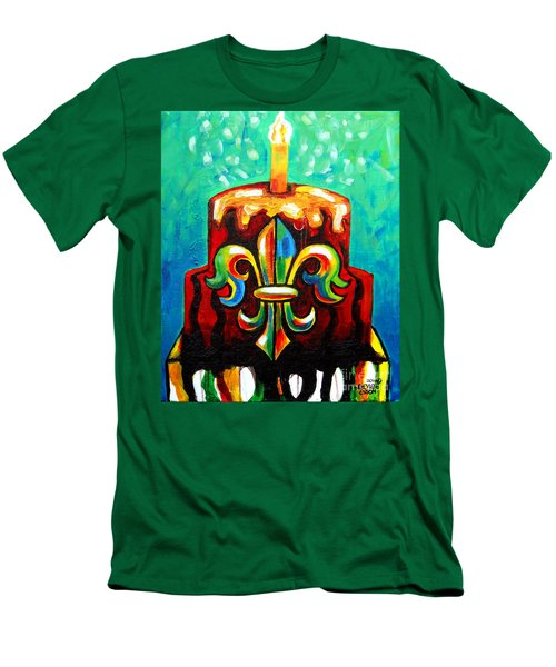 Stl250 Cakeway To The West Payne Gentry House Fleur De Lis Cake Men's T-Shirt (Athletic Fit)