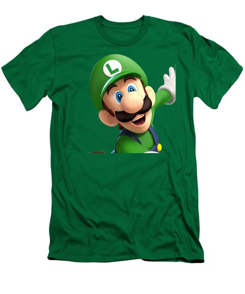 Super Luigi Art Men's T-Shirt (Athletic Fit)