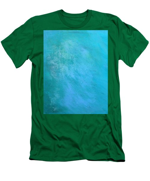 Men's T-Shirt (Slim Fit) featuring the painting Teal by Antonio Romero