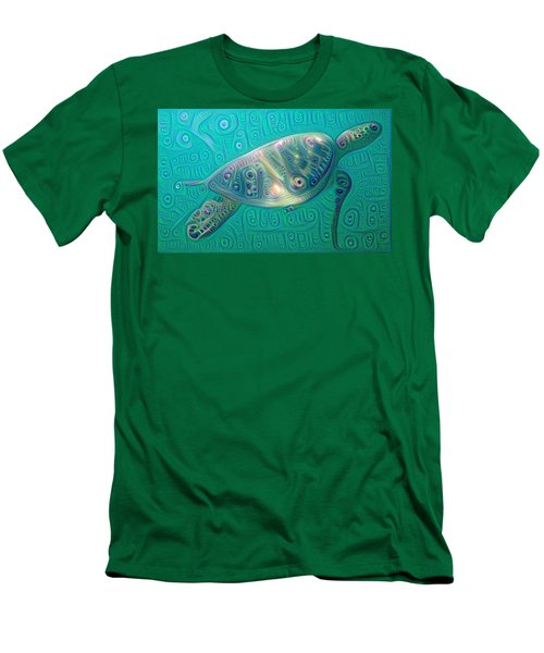 Thaddeus The Turtle Men's T-Shirt (Slim Fit) by Erika Swartzkopf