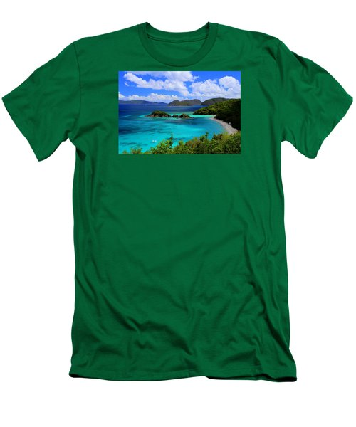 Thank You St. John Usvi Men's T-Shirt (Slim Fit) by Fiona Kennard