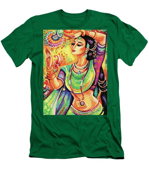 Men's T-Shirt (Slim Fit) featuring the painting The Dance Of Tara by Eva Campbell