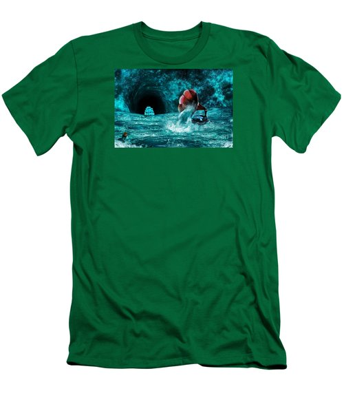 Men's T-Shirt (Slim Fit) featuring the digital art The Eternal Ballad Of The Sea by Olga Hamilton