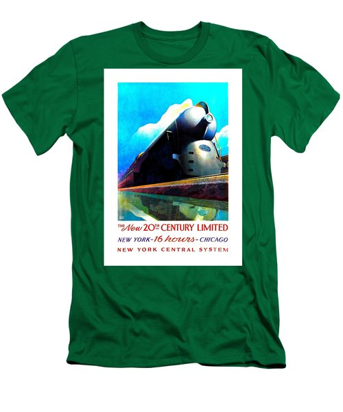 The New 20th Century Limited New York Central System 1939 Leslie Ragan Men's T-Shirt (Slim Fit) by Peter Gumaer Ogden Collection
