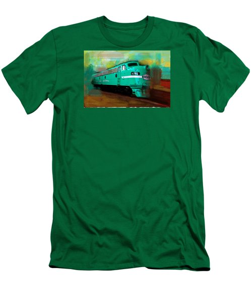 Flash II  The Ny Central 4083  Train  Men's T-Shirt (Slim Fit) by Iconic Images Art Gallery David Pucciarelli