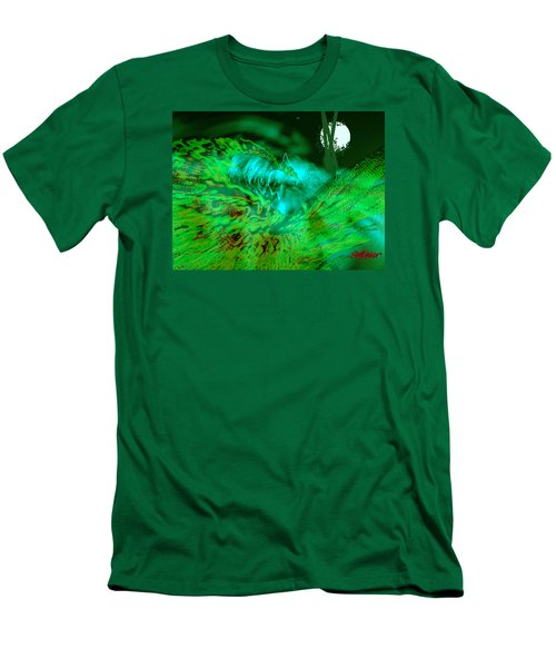 Men's T-Shirt (Slim Fit) featuring the digital art The Winged Terror Of Titicaca by Seth Weaver