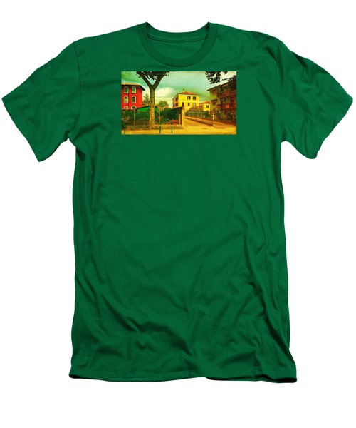 Men's T-Shirt (Slim Fit) featuring the photograph The Yellow House by Anne Kotan