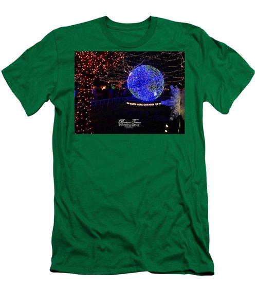 Trail Of Lights World #7359 Men's T-Shirt (Slim Fit) by Barbara Tristan