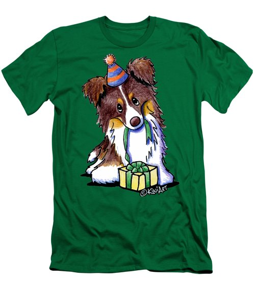 Tri Chocolate Border Collie Men's T-Shirt (Athletic Fit)